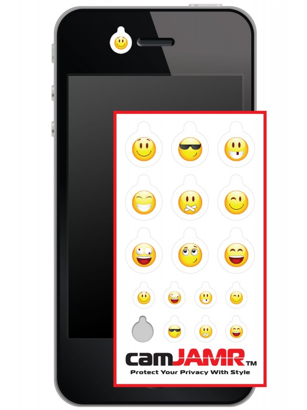 iPhone, Android, Smart Phone Webcam Covers - camJAMR Smiley Pack