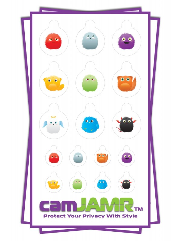 Xbox, iPhone, iPad, Macbook, iMac, Amazon Kindle Web camera covers / privacy stickers - Critter Bundle