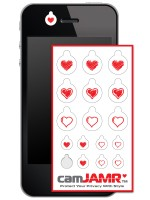 iPhone, Android, Smart Phone Webcam Covers - camJAMR Hearts Pack