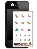 iPhone, Android, Smart Phone Webcam Covers - camJAMR Jurassic Pack