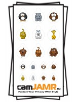 Xbox, iPhone, iPad, Macbook, iMac, Amazon Kindle Web camera covers / privacy stickers - Animal Bundle