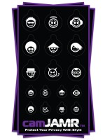 Xbox, iPhone, iPad, Macbook, iMac, Amazon Kindle Web camera covers / privacy stickers - camJAMR Faces Bundle
