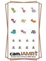 Xbox, iPhone, iPad, Macbook, iMac, Amazon Kindle Web camera covers / privacy stickers - camJAMR Jurassic Bundle