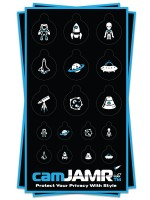 Xbox, iPhone, iPad, Macbook, iMac, Amazon Kindle Web camera covers / privacy stickers - camJAMR Space Bundle