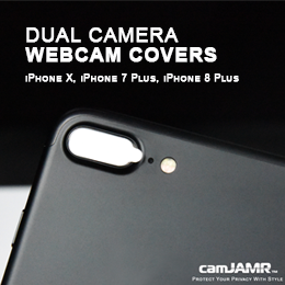 Dual Webcam Cover Stickers for iPhone x, iPhone 7 Plus, iPhone 8 Plus